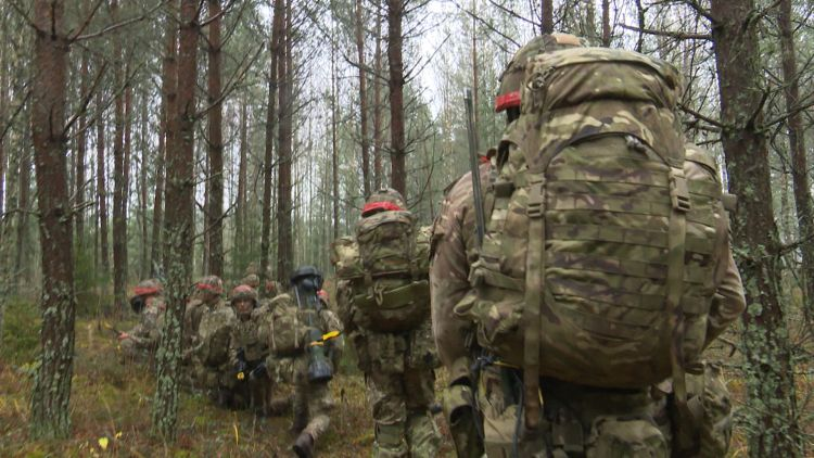 Ex Iron Wolf troops march in Lithuania 171219 credit bfbs.jpg