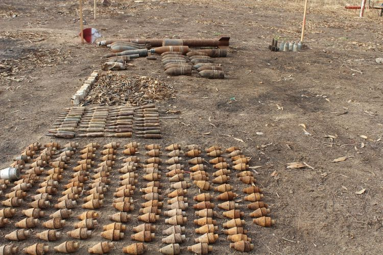 Explosives seized near a playground in Iraq (Picture: UNMAS).