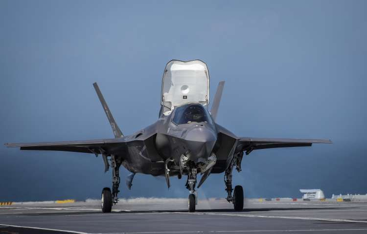 A fall in the pound could make F-35s more expensive (Picture: Royal Navy).