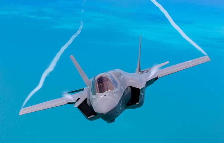 F-35B Lightning II Jet RAF Royal Air Force Aircraft Blue Skies Defence Imagery