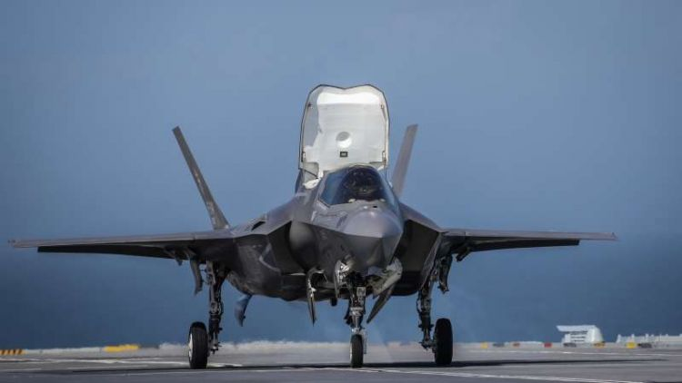 F-35B on HMS Queen Elizabeth (Picture: MOD).