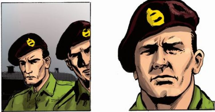 Fantastic Forces: Corporal William Bill Livingston has been turned into a graphic comic book character