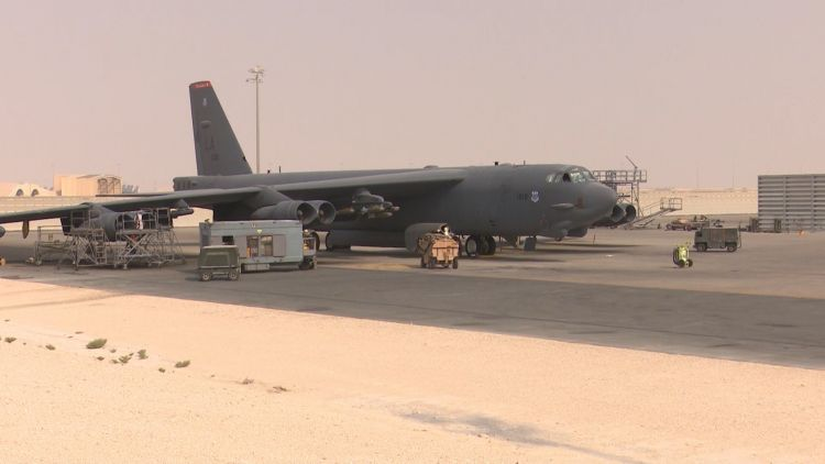 B-52 Stratofortress at Al Udeid Air Base in Qatar