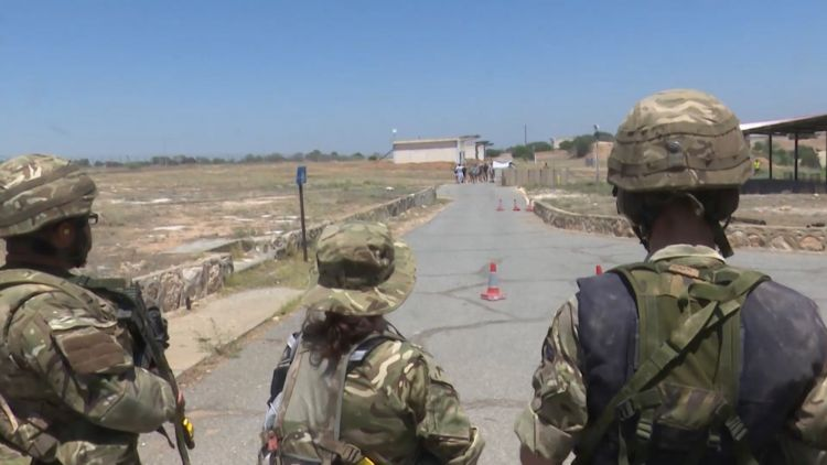 Royal Naval Reservists practice force protection in Cyprus