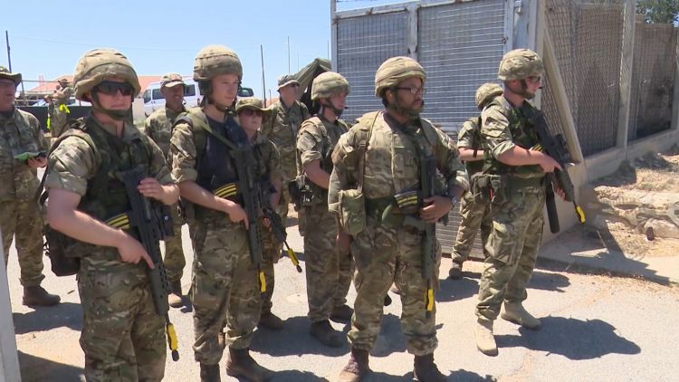 Royal Naval Reservists on exercise in Cyprus