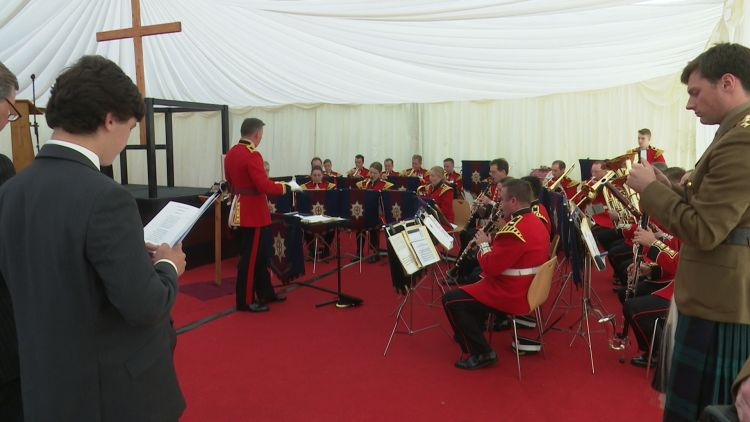 Coldstream Guards Drumhead service