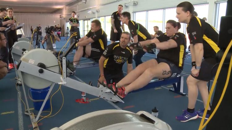 Indoor rowers compete for place at Invictus Games