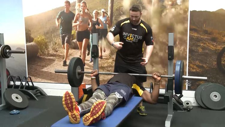 Powerlifters taking part in Invictus trials