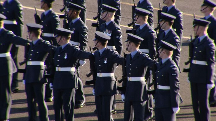 RAF recruits compete for Queen's Colour Squadron