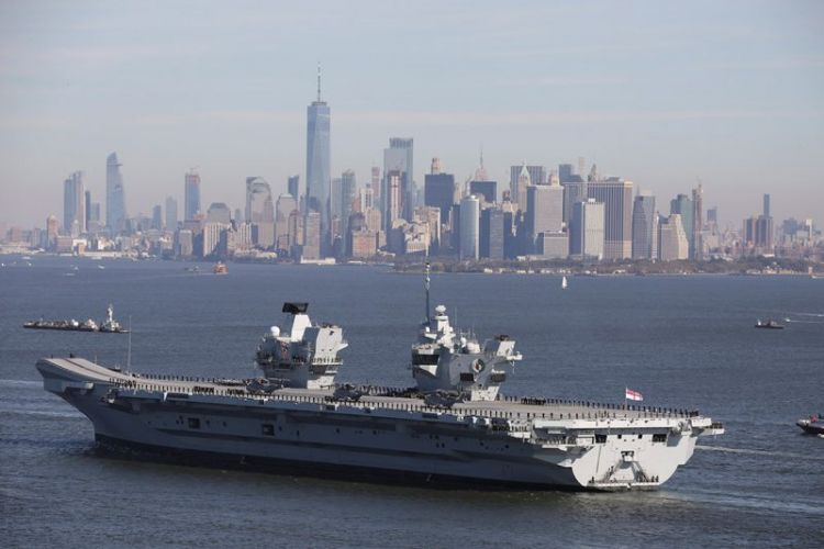 HMS Queen Elizabeth visits New York