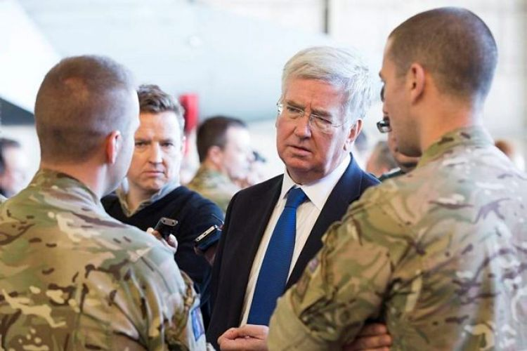Secretary of State of Defence, the Rt Hon Michael Fallon MP, visits RAF Akrotiti