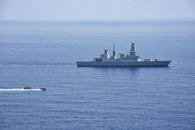 Fast boats deployed from HMS Dragon 180319 CREDIT MOD Royal Navy