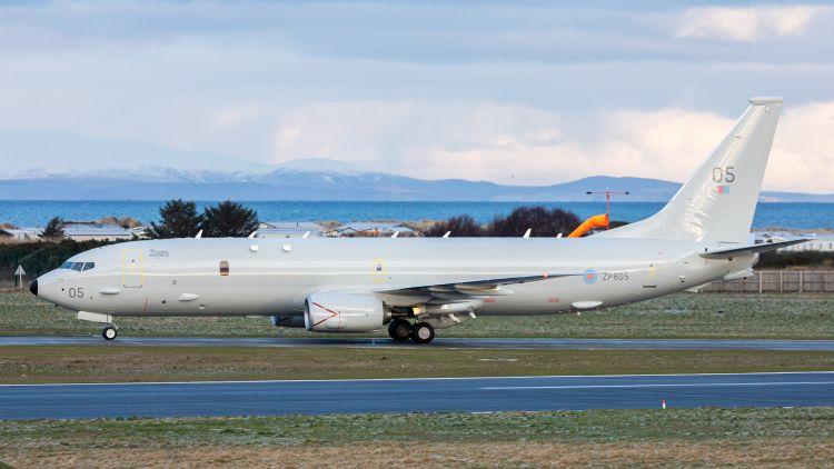 Fifth Poseidon P8A lands at RAF Lossiemouth after flying from Seattle in the US 020221 CREDIT MOD.jpg
