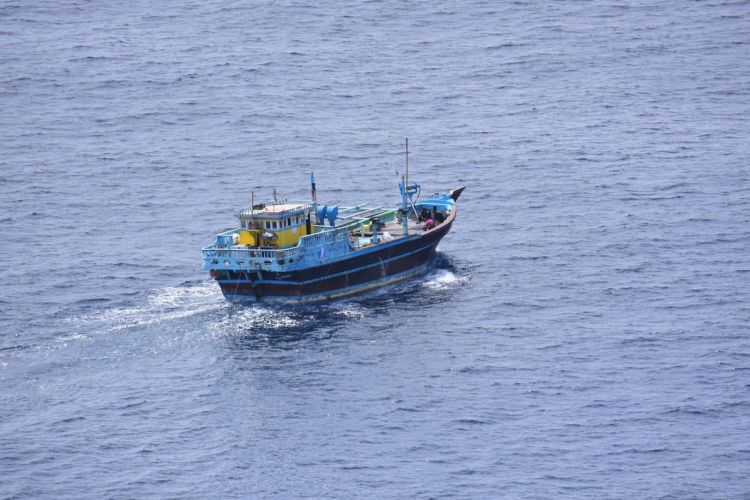 The drugs were found on board of a suspicious fishing vessel (Picture: MOD/Royal Navy).