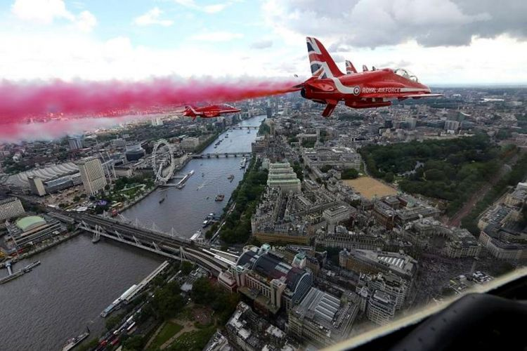 RAF Red Arrows Gay Pride Flypast