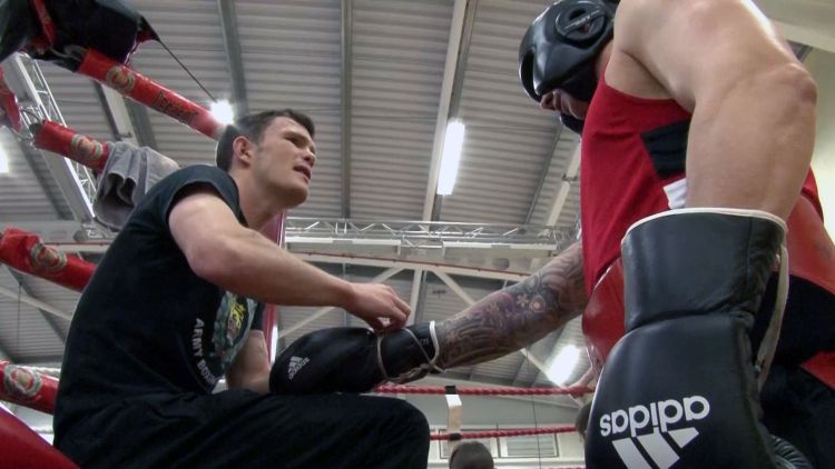 GB & Wales & British Army boxers train together