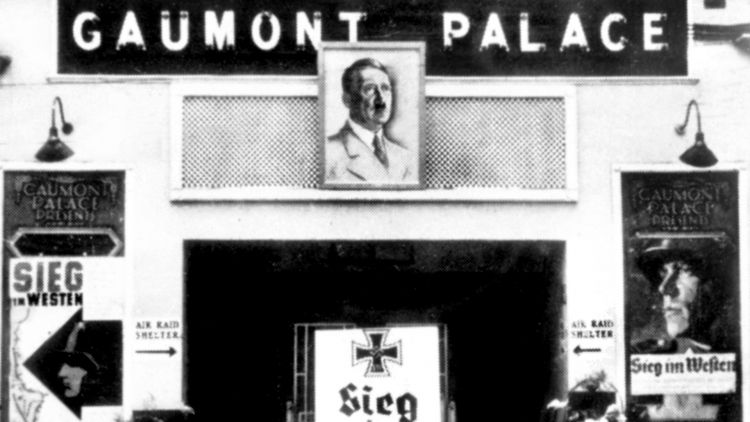 Gaumont Cinema on Guernsey showing German Propaganda during the German occupation of the Channel Islands WWII in 1945 resized image 010145 CREDIT TopFoto PA (2).jpg