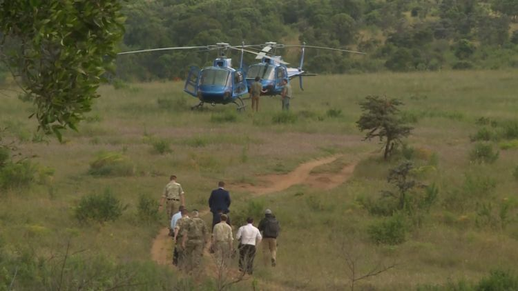 Gavin Williamson Kenya Helicopter