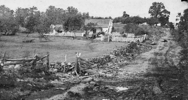 Gettysburg, Pa. Headquarters of Gen. George Meade on Cemetery Ridge