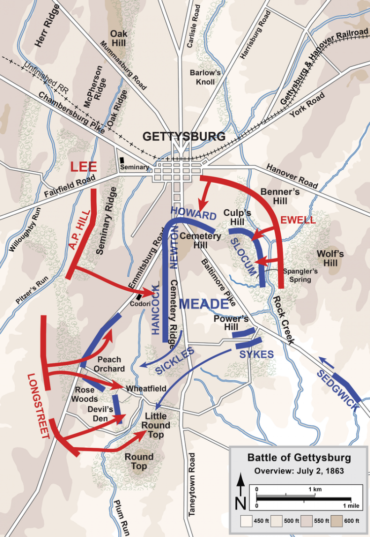 Gettysburg_Battle_Map_Day2 by Hal Jaspersen