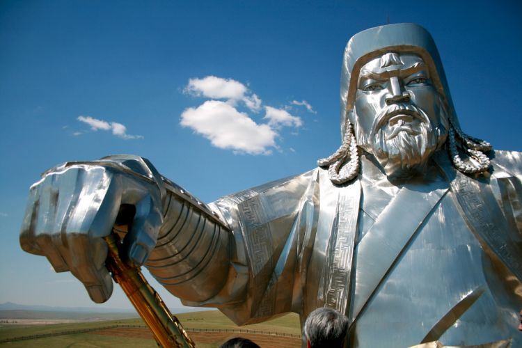 Ghengis Khan statue in Mongolia by François Philipp