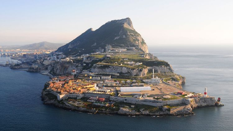Gibraltar The Rock Aerial View Of Europa Point Sea Land Defence Imagery