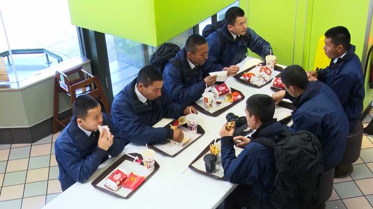 Gurkha recruits first burgers