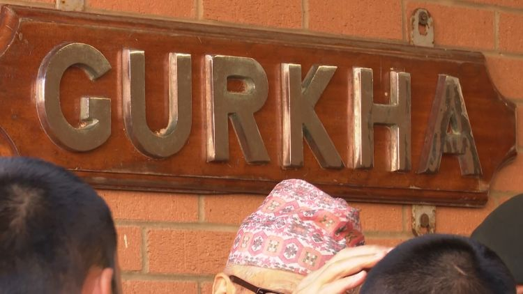 Gurkha sign at Catterick 120219 CREDDIT BFBS
