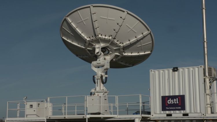 HERMES ground station at DSTL in operation 121120 CREDIT BFBS