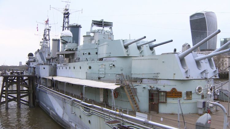 The ceremony was held on HMS Belfast.