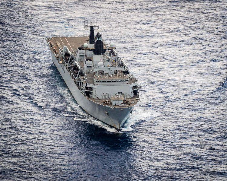 HMS Bulwark amphibious ship British Navy