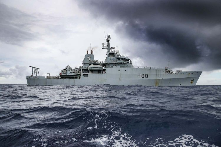 HMS Enterprise Evacuate Ill Sailor