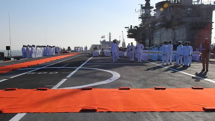 HMS Hermes now INS Viraat during an Indian Navy ceremony SOURCE Andy Trish.jpg