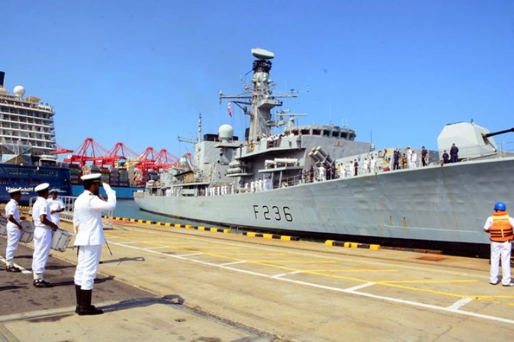 HMS Montrose arriving in the Sri Lankan capital of Colombo (Picture: Royal Navy).