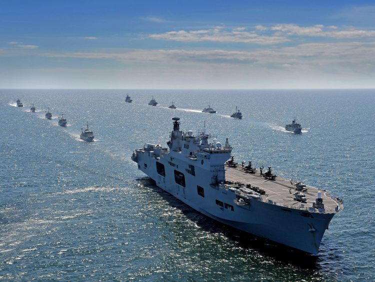 HMS Ocean during BATLOPS 2015 in the Baltic Sea (Picture: Crown Copyright).