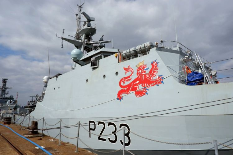 HMS Tamar in Portsmouth for first time 020420 CREDIT ROYAL NAVY