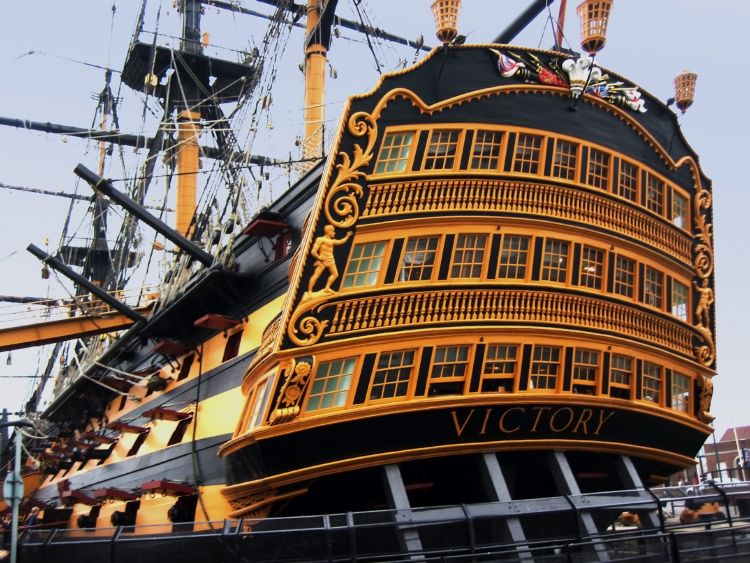 HMS Victory Work To Stop It Sagging Under Its Own Weight