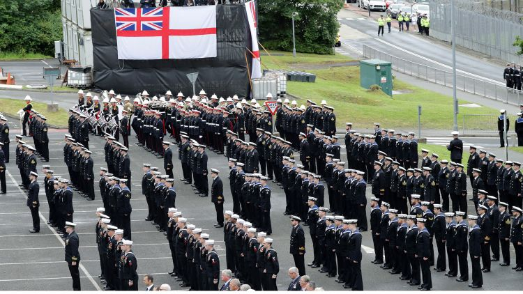 HRH The Princess Royal HM Naval Base Clyde