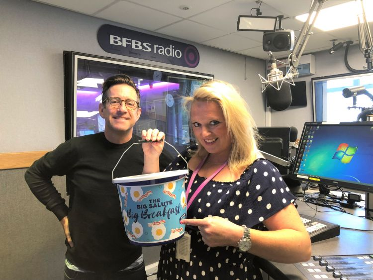 Richard Hatch and Verity Geere with the Big Salute Big Breakfast