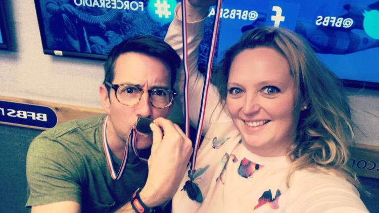 Hatch And Geere Veterans Breakfast Club Medals Forces Radio BFBS Selfie
