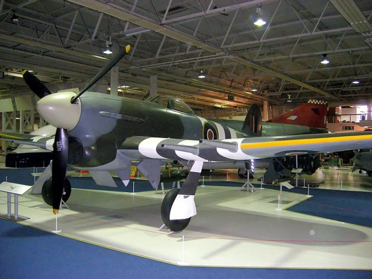 Hawker Typhoon MN235 at RAF Museum, Hendon by Dapi89 and Hohum