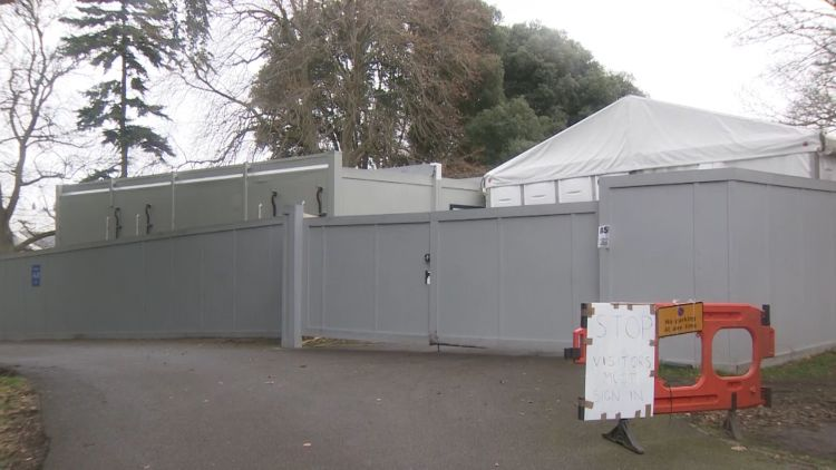 Headley Court turned into mortuary COVID coronavirus 110121 CREDIT BFBS.jpg