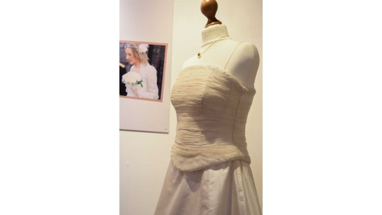Helen Head's strapless corset and seperate skirt dress at the Fusilier Museum (Picture: Fusilier Museum).