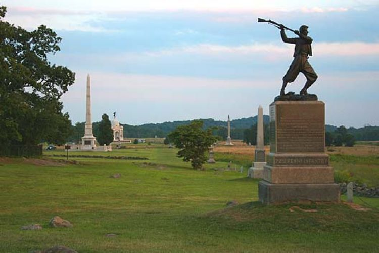 High_Water_Mark_-_Cemetery_Ridge,_Gettysburg_Battlefield by Robert Swanson