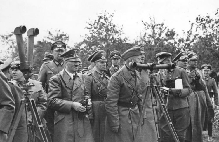 Hitler with his generals in 1939