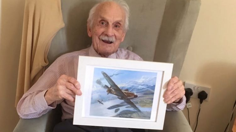 99-year-old Paddy Hemingway was the pilot when the Hurricane crashed in Essex.