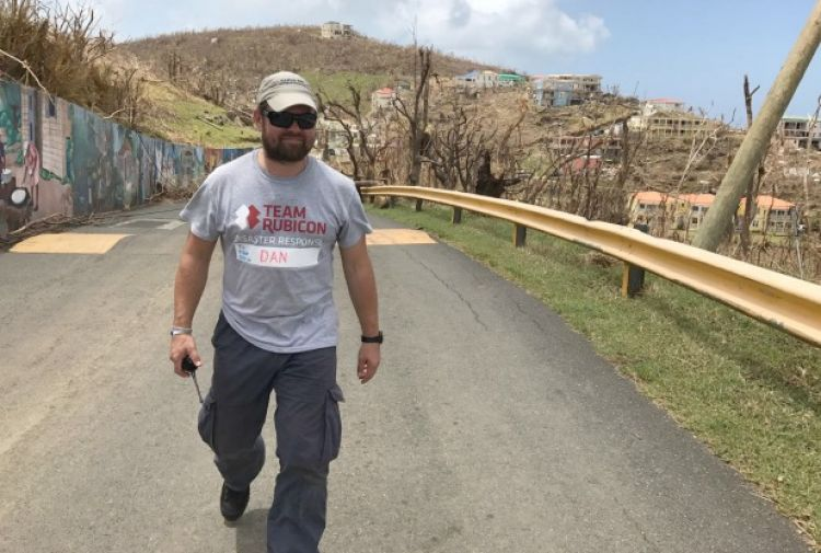 Team Rubicon UK volunteers assess the damage after Hurricane Irma