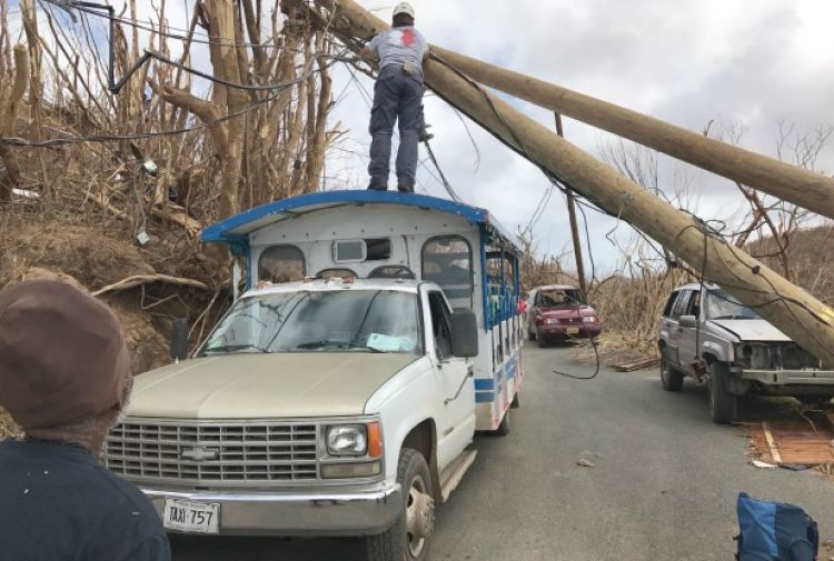 Team Rubicon UK and Serve On volunteers get to work after Hurricane Irma