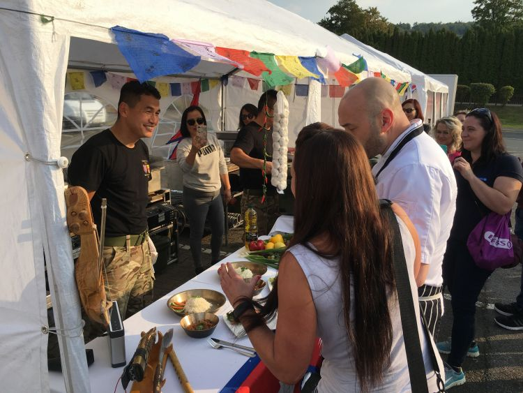 The Nepalese tent were crowned the winners with their traditional dish of pork momos