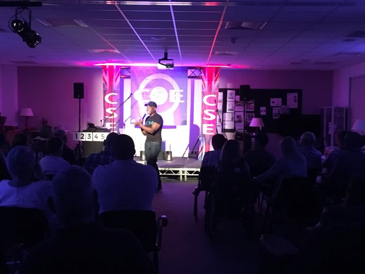 Comedian and CSE veteran Rudi Lickwood provided the laughs throughout the night